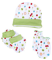 Morisons Baby Dreams Cap Mitten And Booties Set - Green