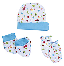 Morisons Baby Dreams Cap Mitten And Booties Set - Blue