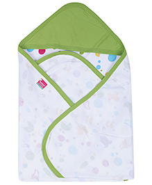 Morisons Baby Dreams Hooded Cloth Wrap - Green