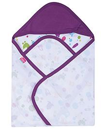 Morisons Baby Dreams Hooded Cloth Wrap - Purple