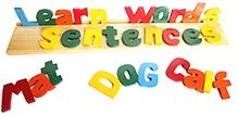 Aatike Wooden Phonetics Set - Word And Sentence Building Set