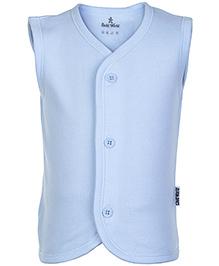 Child World Sky Blue Sleeveless Plain Vest