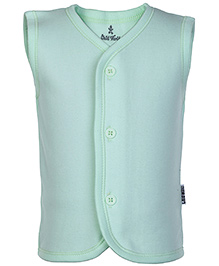 Child World Sea Green Sleeveless Plain Vest