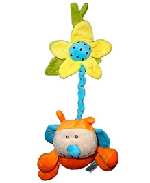 Play N Pets Ladybird With Flower Orange - 15 cm