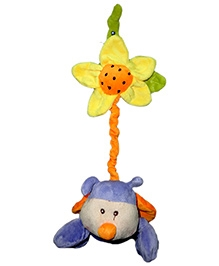 Play N Pets Ladybird With Flower Purple - 15 cm