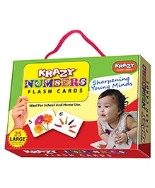 Edupark Krazy Numbers Flash Cards - 26 Cards
