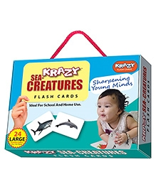 Edupark Krazy Sea Creatures Flash Cards - 26 Cards