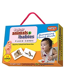 Krazy Animals And Their Babies Flash Cards - 26 Cards