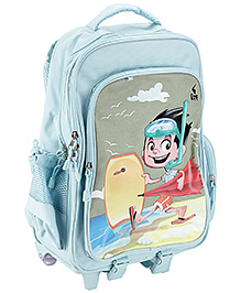 Game At The Beach School Bag Blue - 19 x 29 x 49 Cm