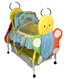 Sunbaby Buzz The Butterfly Bassinet Blue