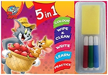 Sterling Tom And Jerry 5 In 1 Wipe And Clean Coloring Book