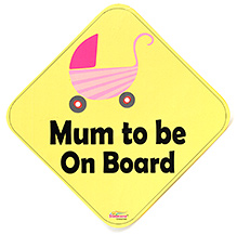 Signz Mum To Be On Board Yellow - 13.5 x 13.5 Cm