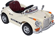 Fab N Funky Battery Operated Kids Car RC - Classic Cream