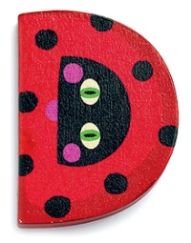 Djeco Wooden D Letter - Lady Bug