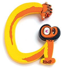 Djeco Wooden G Letter Toy - Monkey Design