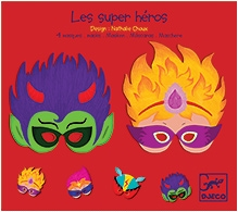 Djeco Super Heroes Masks - Set Of 4