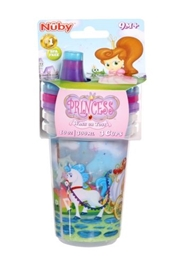 Nuby Set of 3 Cups with Sipper Princess 300 ml