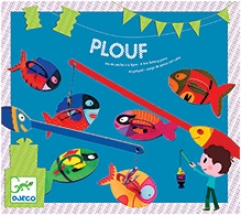 Djeco Plouf A Line Fishing Game - 4 Fishing rods And 16 Fish