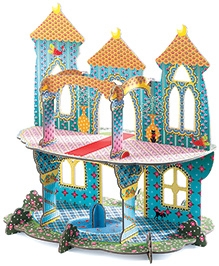Djeco Pop To Play Castle Of Wonders 4 Years And Above, 9.8 X 13.4 X 13.8 Inches, Sturdy Paperboard Castle...