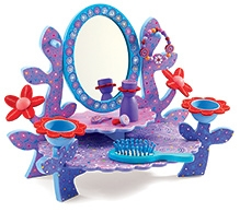 Djeco Children Toys Aurelias Wooden Dressing Table - Purple - 4 Years And Above