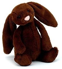 Jellycat Bashful Chocolate Bunny Small Soft Toy - 18 cm