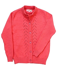 Campana Full Sleeves Cardigan - Chevron Pattern