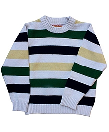 Campana Broad Striped Sweater - Rib Neck
