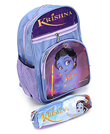 Krishna Nursery School Bag With Pencil Pouch 30 x 22 x 7 cm, Helps you to keep all your belongings safely
