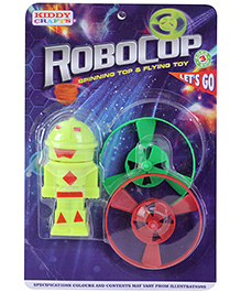 Venus Robocop Spinning Top And Flying Toy - 3 Years Plus - Robot height 9.5 cm