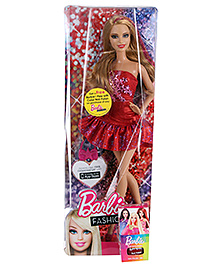 Barbie Fashionistas Red Doll 29 cm - 5 ml Nail Polish Free with this doll