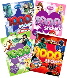 Parragon 1000 Stickers Pack - Set of 3 Plus 1 Books