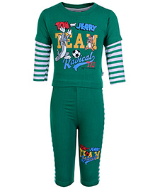 Cucumber Doctor Sleeves T Shirt And Legging - Tom And Jerry Print