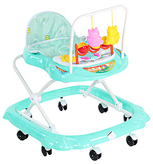 Fab N Funky Baby Blue Musical Walker With Attached Toy - Strawberry Print