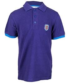 Nauti Nati Blue Half Sleeves Polo T Shirt - Front Placket