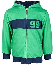 Nauti Nati Green Full Sleeves Hooded Jacket - 5 Years