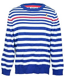 Nauti Nati Full Sleeves Round Ribbed Neck Sweater - Stripes Design