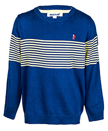 Nauti Nati Blue Full Sleeves Sweater - Yellow Stripes