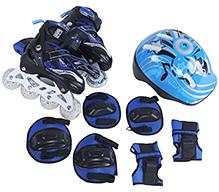 Fab N Funky Blue Inline Skates Set - Gosome Print