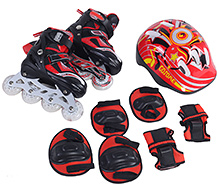 Fab N Funky Red Inline Skates Set - Gosome Print