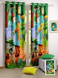 Swayam Digitally Printed Kids Door Curtain With Eyelit