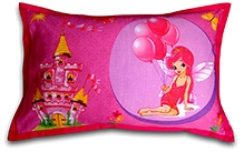 Swayam Princess Digital Print Kids Pink Pillow Cover - 46 X 71 Cm - 1 Piece
