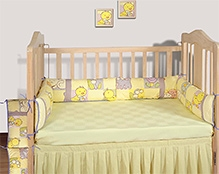 Swayam Digital Tweety Print Cot Bumper Large Standard Size - 10 X 160 Inches
