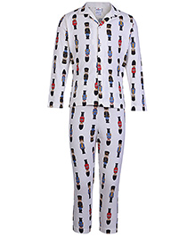 Ollypop Full Sleeves Night Suit - Buckingham Palace Guard Print