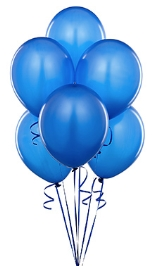 Party Anthem Metallic Blue Latex Balloons - 12 Inches - Pack Of 50