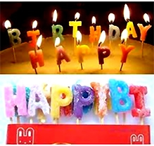 Party Anthem Happy Birthday Letters Candle - Pack Of 13
