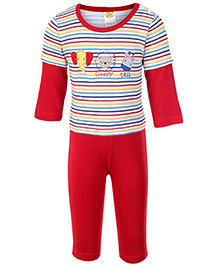 Little Doctor Sleeves Striped T Shirt And Legging