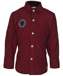 Gini & Jony Full Sleeves Checks Shirt - Cherry Red