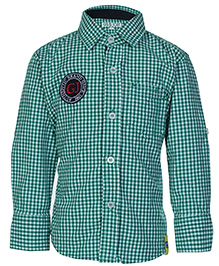 Gini & Jony Full Sleeves Checks Shirt - Green
