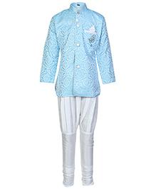 Babyhug Full Sleeves Brooch Attached Kurta Pajama Set