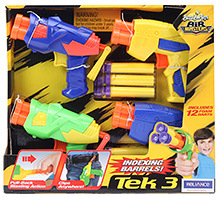 Buzz Bee Toys Tek 3 Air Blaster Pack Of 4 - 5 Years Plus